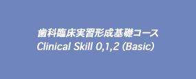 歯科臨床実習形成基礎コース Clinical Skill 0,1,2(Basic)